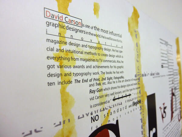David Carlson Graphic Design and Typography