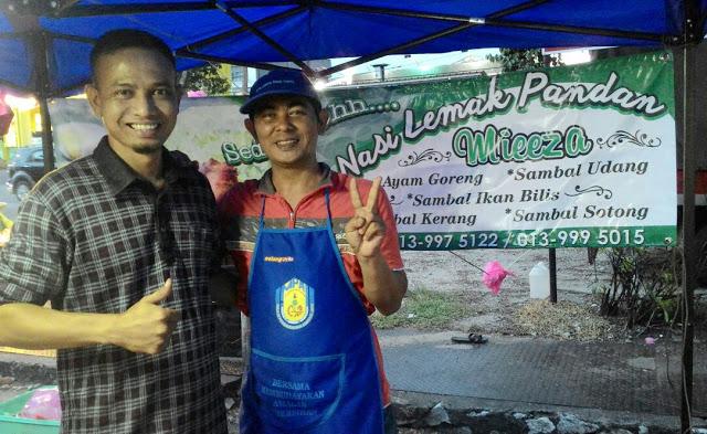 Nasi Lemak Pandan Mieeza Blogger Kamil Salleh