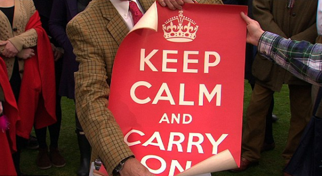 Asal slogan poster Keep Calm and Carry On,