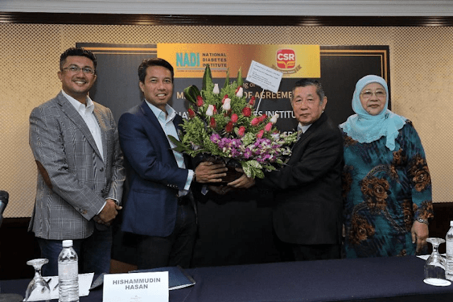 MoU antara Central Sugars Refinery (CSR) dan National Diabetes Institute, Malaysia (NADI),